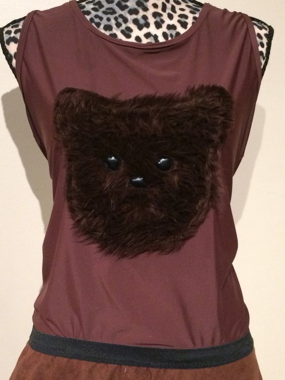 Ewok or Teddy Bear running shirt by RockCitySkirts on Etsy