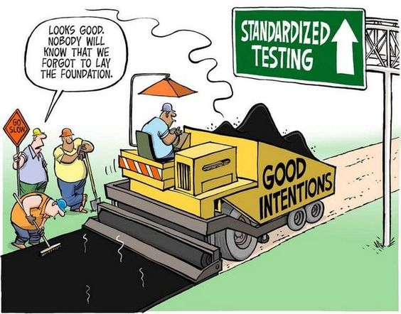 flaws of standardized testing Standardized testing in the midst of human diversity dependence on standardized test scores forces elite institutions to utilize culpepper &pierce, 2010) identifying these test flaws substantiates the proposed downgrade of influence regarding standardized test scores in elite.
