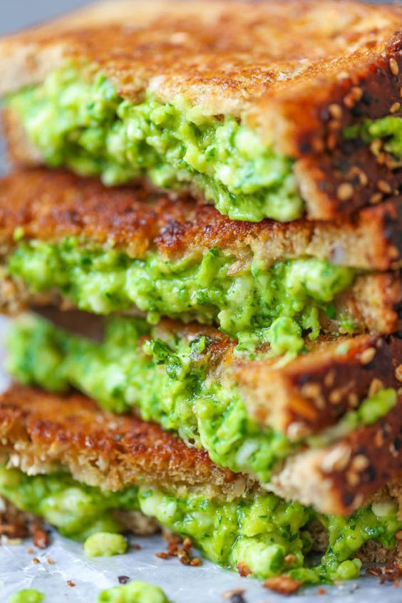 Work it into a grilled cheese. | 26 Genius Ways To Use Avocado