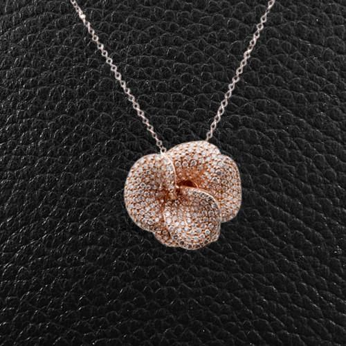 Diamond Flower Pendant Pendants Diamond Jewelry