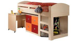Kinderhochbett mit rutsche roller Roller Kinderhochbett mit Arbeitstisch - von Roller Sunny ...
