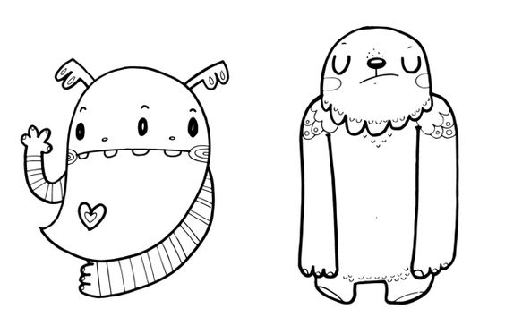 Monstruos para colorear on Behance