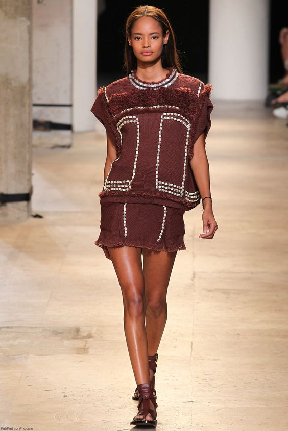 Malaika Firth for Isabel Marant spring/summer 2015 collection - Paris fashion week