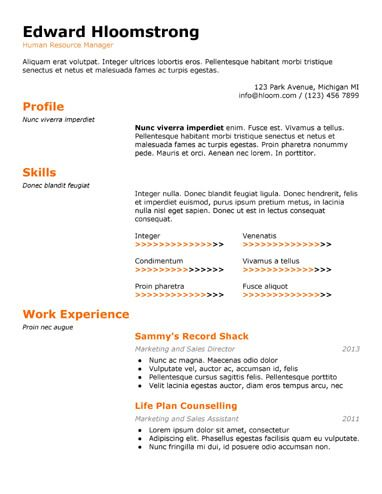 Technical Special Gdoc Resume Career Pinterest Resume - human resource resume template