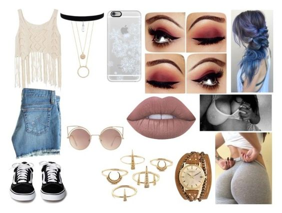 """""""Sem título #115"""" by mylenna-ayumi ❤ liked on Polyvore featuring Kahuna, Casetify, Luv Aj, AG Adriano Goldschmied, Lime Crime, MANGO and Kate Spade"""