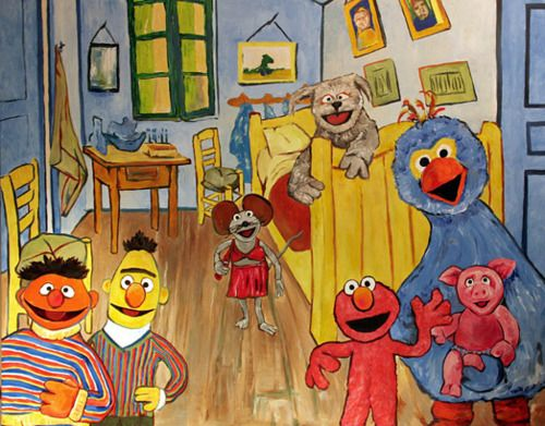 sesame street and the vincent van gogh museum, amsterdam