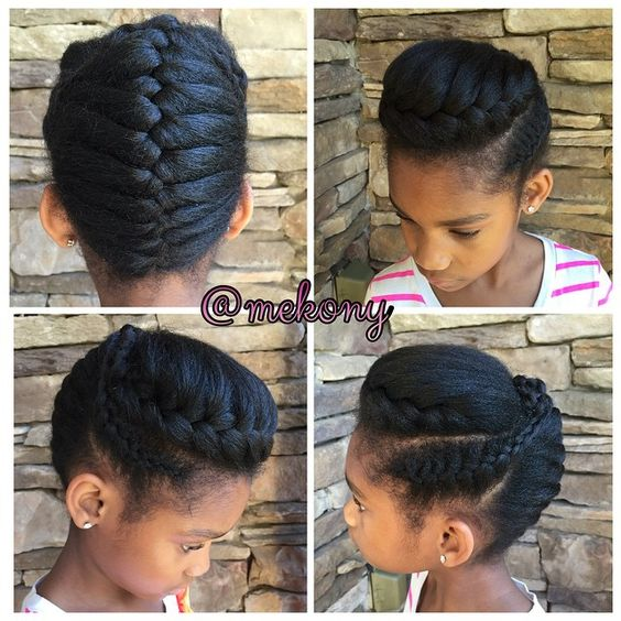 Pretty Little Naturals..... Simple Up Do For Any Occasion French Updos are grea