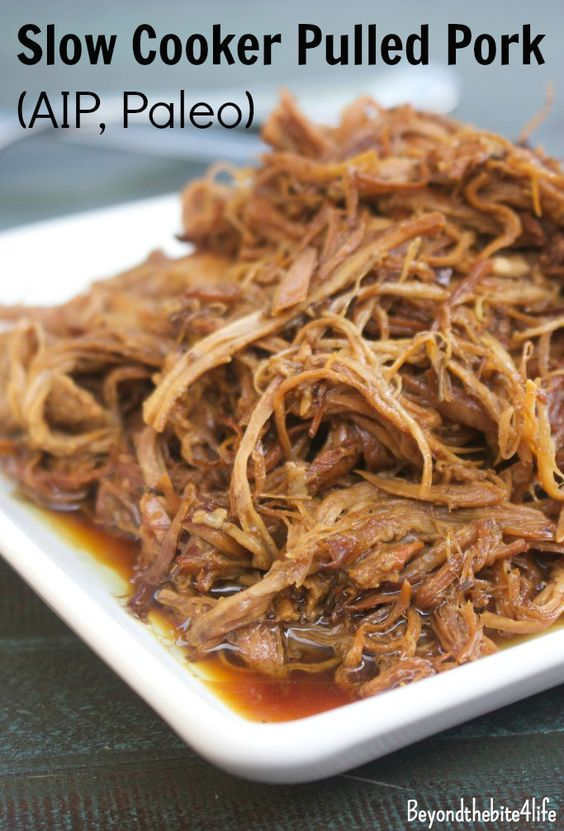 AIP Paleo Pulled Pork made in the slow cooker (No Nightshades)