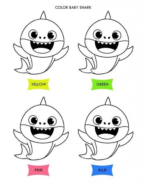Desenhos Para Colorir Baby Shark Imprimir E Pintar Babyshark Em