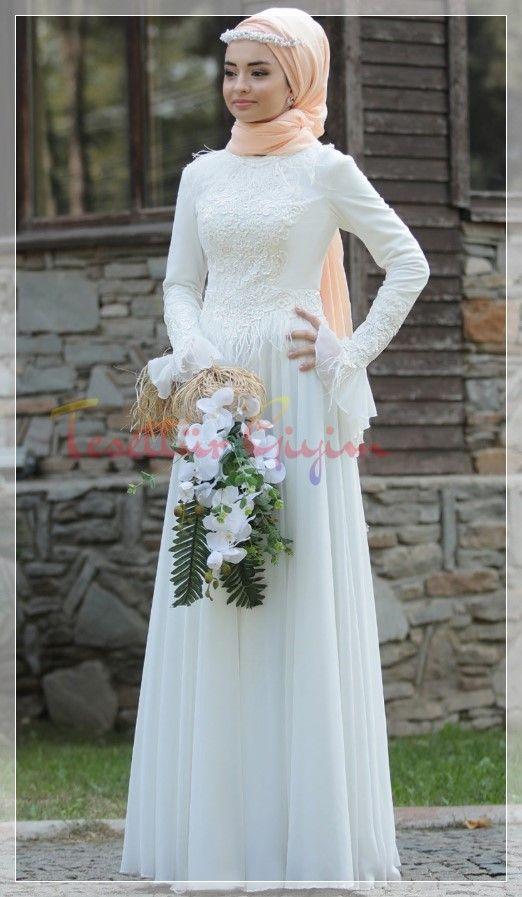 Tesettur Nikah Elbisesi Modeli 2020 Moda Stilleri The Dress Basortusu Modasi