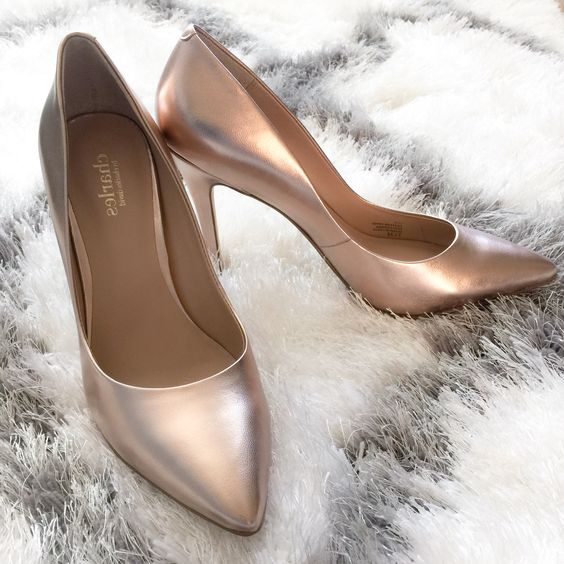 Gorgeous rose gold pointed toe pumps (on sale for a limited time)