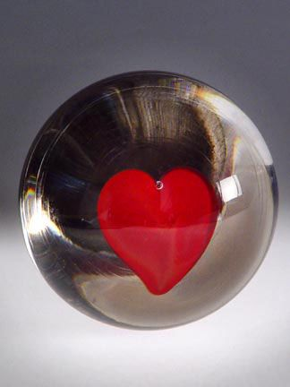 Hand blown glass Paperweights