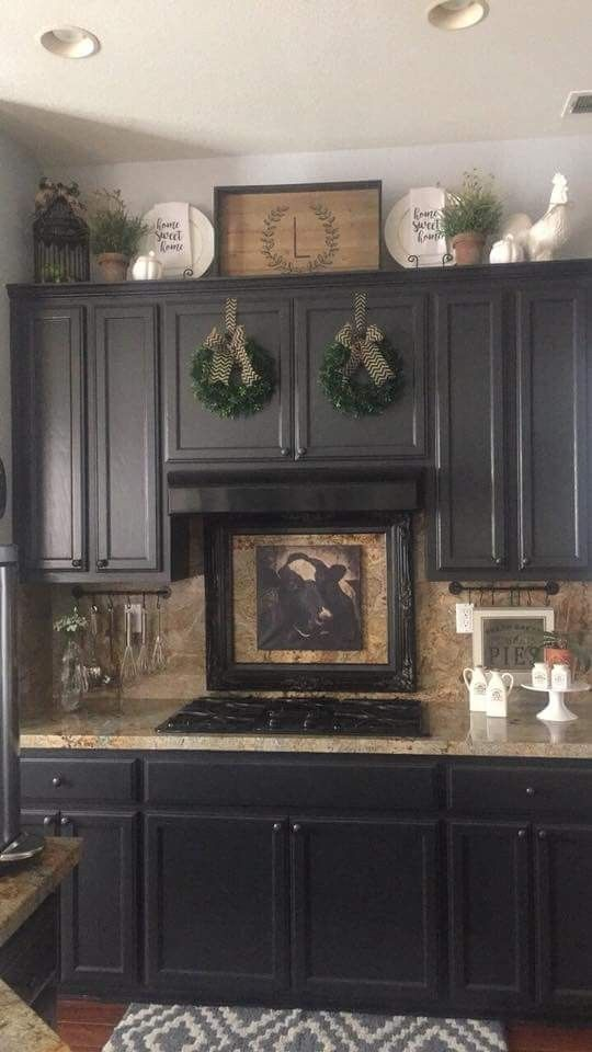 Above Cabinet Decor With Images Decorating Above Kitchen