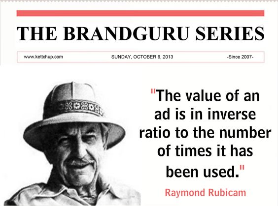 Raymond rubicam was an american advertising pioneer who co for American ad agencies