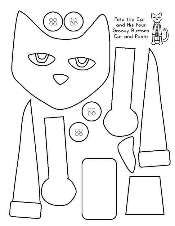 free printable pete the cat and his four groovy buttons. Black Bedroom Furniture Sets. Home Design Ideas
