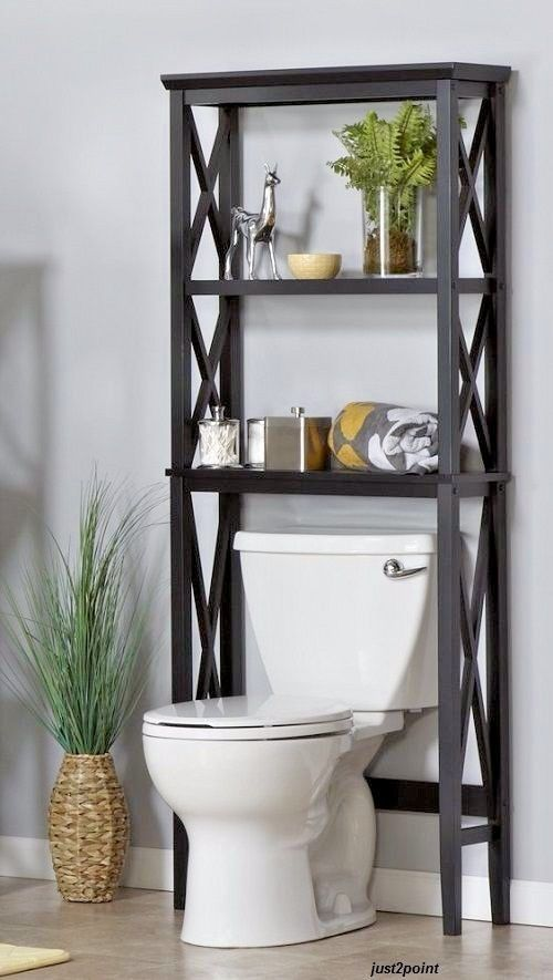 Bathroom Space Saver Over Toilet Shelves Storage Cabinet Rack Towels Furniture Bathroomspacesaver Toilet Shelves Shelves Over Toilet Shelves