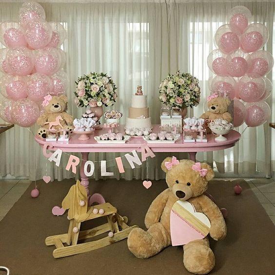 Tematica De Baby Shower Nina.Tematicas Para Baby Shower Nina 2019 Con Osos Mesas Para