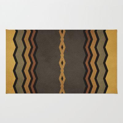 Textures/Abstract 8 Area & Throw Rug by ViviGonzalezArt - $28.00