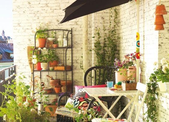 Balcon esprit r cup d co balcons pinterest vintage for Amenagement jardin recup