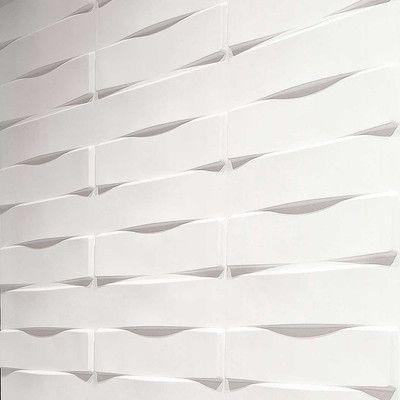 "Inhabit Stich Wall Flats 18' x 18"" Geometric 3D Embossed Panel…"