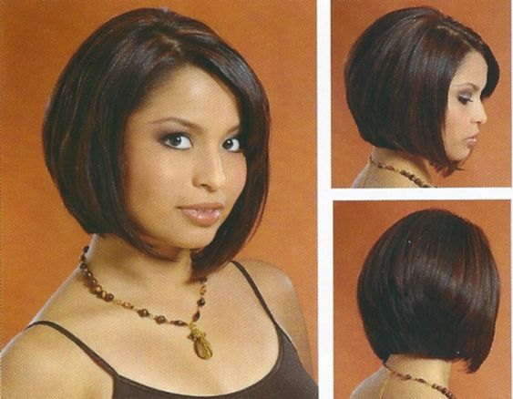 Pictures Of Bob Hair Styles: Medium Layered Bob Back View