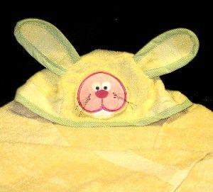 Animal Head hooded bath towel including PDF ear pattern for Bear, Lion, Bunny or Shark.  Too cute!!!!