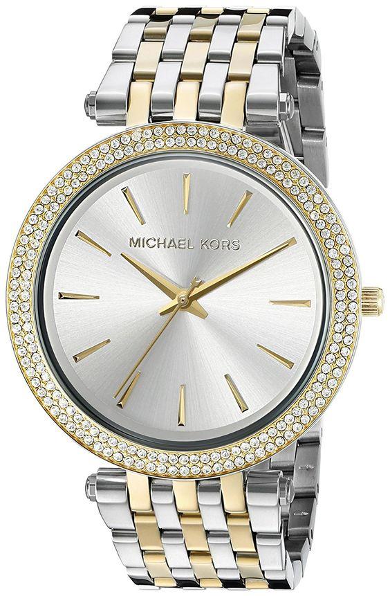 Amazon.com: Michael Kors Women's Darci Two-Tone Bracelet Watch MK3215: Michael Kors: Clothing