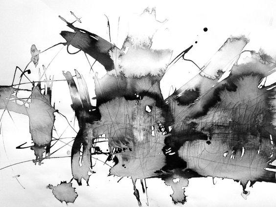 30x40cm kunst malerei schwarz wei home bild deko design. Black Bedroom Furniture Sets. Home Design Ideas