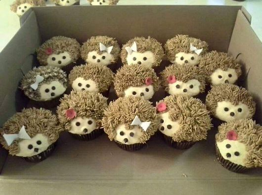 Hedgehog cupcakes..   via syezzey kay- google+