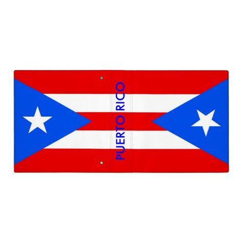 Binder With Flag Of Puerto Rico Usa Zazzle Com In 2020 Puerto Rico Puerto Rico Flag Flag