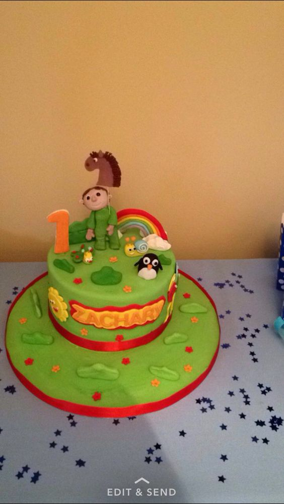 Baby tv 1st birthday cake Zacharys 1st bday Pinterest Babies