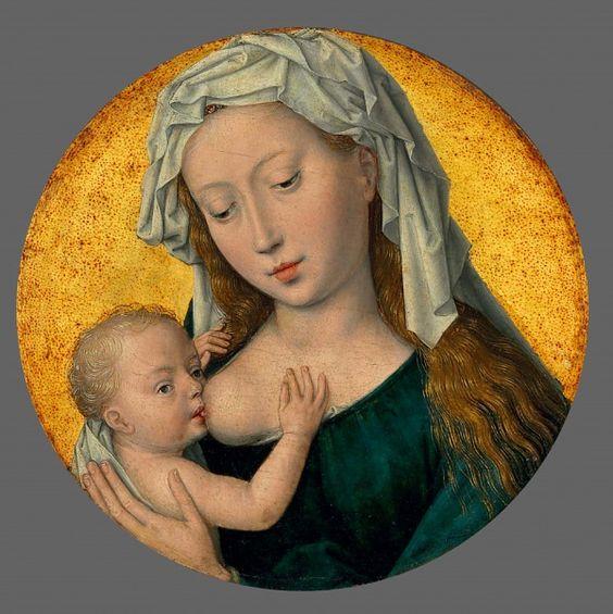 Hans Memling , The Virgin Mary nursing the Christ Child