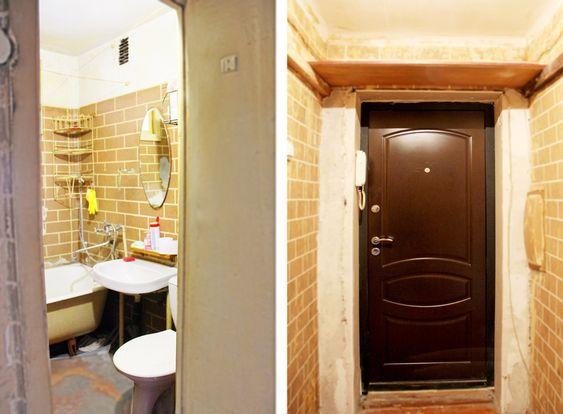 Входная дверь и санузел