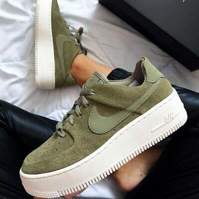Womens Nike Air Force 1 Sage Low Olive Green New Size 9 | eBay ...