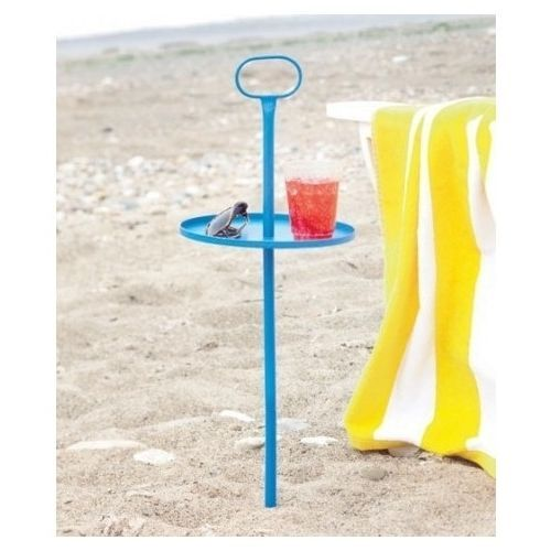 Portable Beach Table Camping Picnic Outdoor Furniture Drink Stand Sand Ground in Home & Garden, Furniture, Tables | eBay
