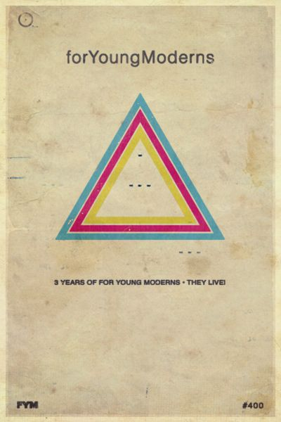 3-year #Anniversary #Poster #Design for Young Moderns