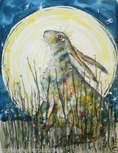 LARGE-PRINTS-from-ORIGINAL-WATERCOLOUR-by-MOON-HARES-ART-Paintings-amp-Prints
