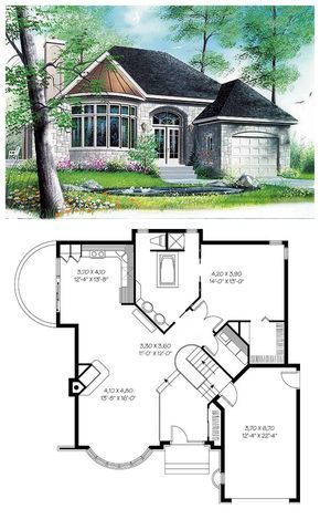 Victorian Style House Plan 65084 With 1 Bed 1 Bath 1 Car Garage Victorian House Plans Tiny House Floor Plans Sims House Plans
