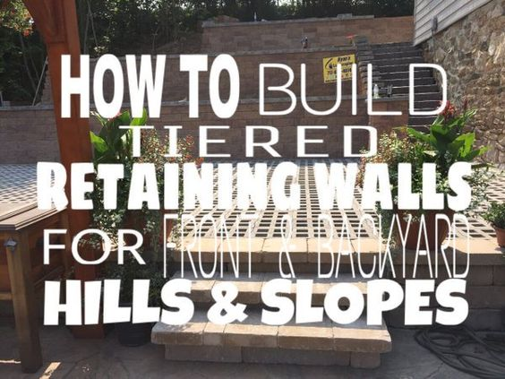 : How to build tiered retaining walls for front & backyard hills and slopes? Ideas Ryan's La http://youtu.be/JHyUvvee8YA?a