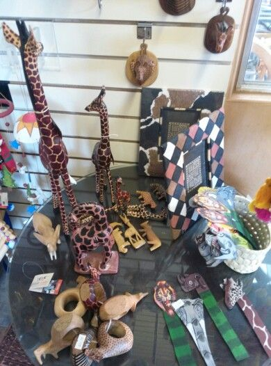 Giraffes, elephants, etc from Kenya