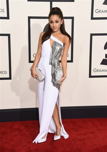 Ariana Grande attends the 57th annual Grammy Awards at the Staples Center in Los Angeles on Feb. 8, 2015.