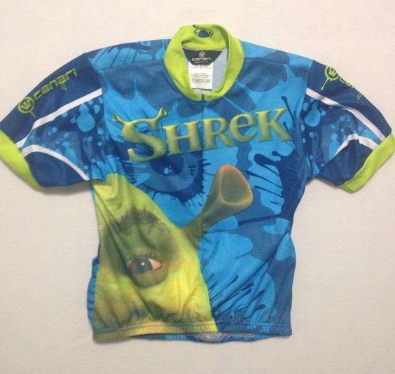 Canari San Diego Shrek Rules Cycling Shirt Youth Size M #Canari