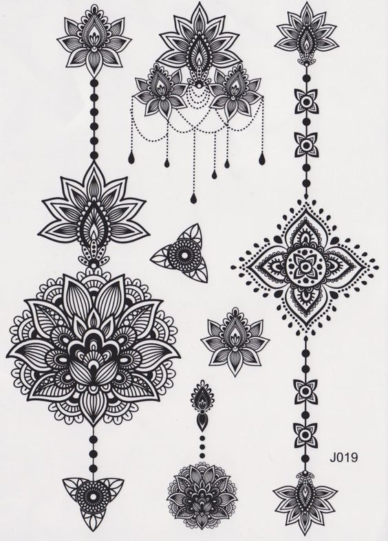 Black and White Assorted Lotus Temporary Tattoo Sheet  *** Listing is for one sheet of high quality tattoo which lasts about 2 days up to a week*** *** Listing is for 1 full tattoo set sheet shown in picture ***  What is the size of this tattoo ? • 21cm(L)*15cm(W): Size of Tattoo Sheet  Application of Temporary Tattoos 1. Skin should be clean, dry, and free of makeup. 2. Remove clear top sheet. 3. Press tattoo, design facing down, onto skin. 4. Hold wet cloth against back of tattoo. Press…
