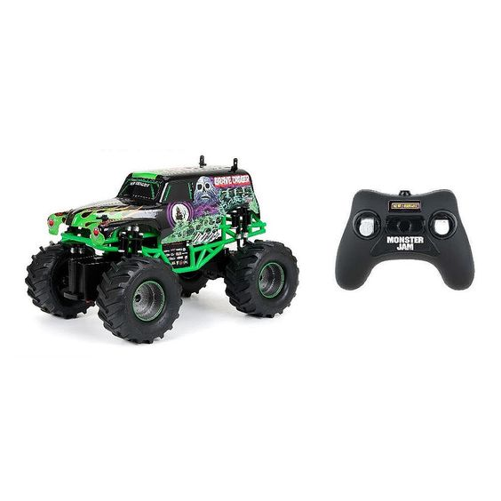 """Grave Digger Remote Control Car - 1:15 R/C Monster Jam Vehicle - 49 MHz - New Bright Industries - Toys """"R"""" Us"""