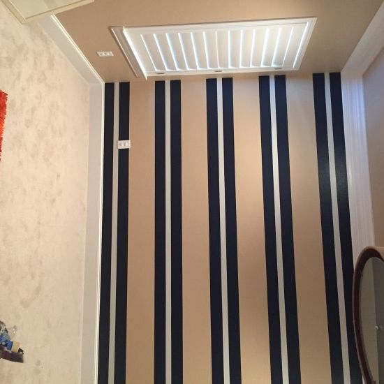 unique yet still stylish.  Stripes on the wall never looked so good!