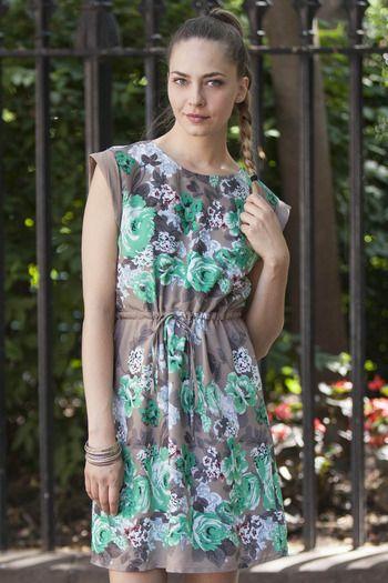 Tulle Green Rose Dress