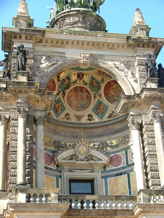 Detail of the beautiful Semperoper  (Opera house) - Dresden - Germany