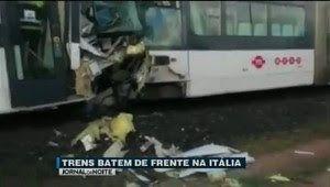 Galdino Saquarema 1ª Página: Trens batem de frente na Itália deixa dezenas de feridos...