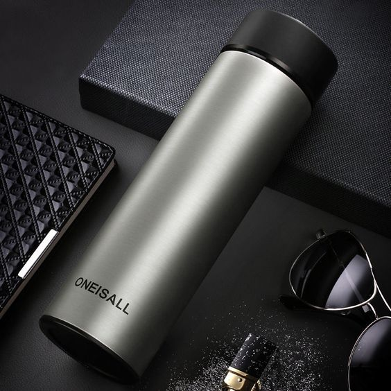 Insulated Stainless Steel Vacuum Flask Travel Mug Beverage Thermos Bottle 16oz #ONEISALL