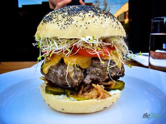 Oakwood's house ground shoulder burger... DELISH!!